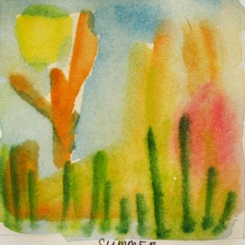 summer watercolor  harmony thoughts