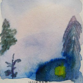winter watercolor harmony thoughts