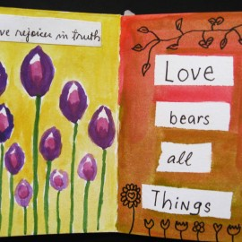 love rejoices in truth and bears all things