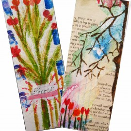 painted bookmark in watercolor 1