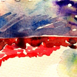 loose watercolor painting by elisa choi