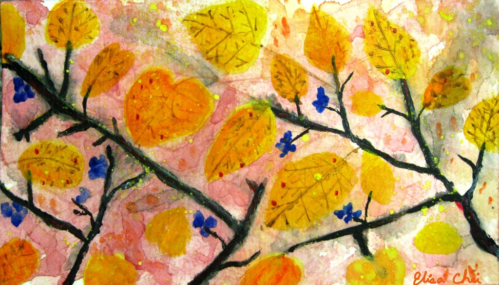 warm leaves painting