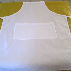 blank canvas apron