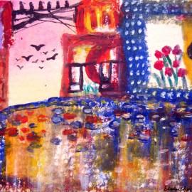 acrylic painting_elisa choi_Home
