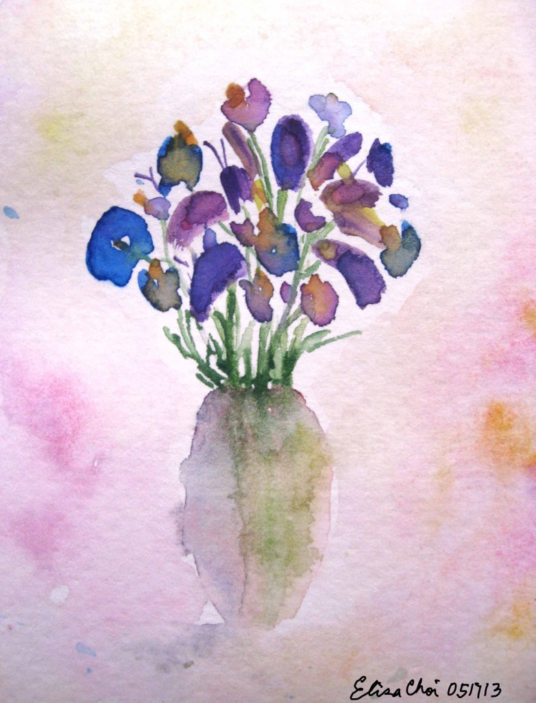 Watercolor painting_Elisa Choi_Irises