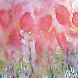 watercolor painting_Elisa Choi_Tulips Overflow