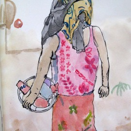 watercolorpainting_ElisaChoi_Few More Steps