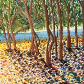 Dancing Trees_acrylics_Elisa Choi