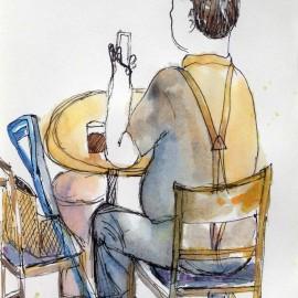 Man at Cafe Ti-Amo