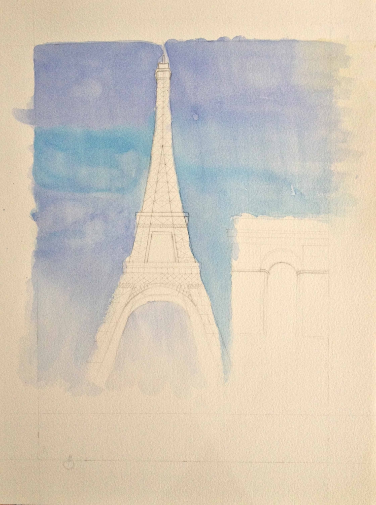 eiffel tower by elisa choi
