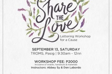 Share the Love: Lettering Workshop for a Cause