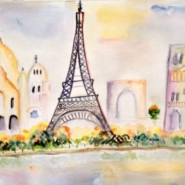 Paris painting Mockup