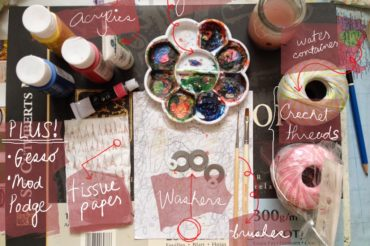 How to Paint Washer Necklace in Acrylics