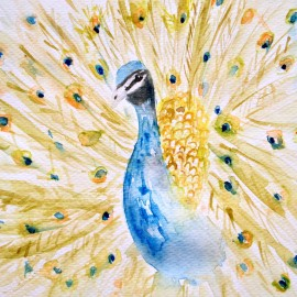 Peafowl Watercolor