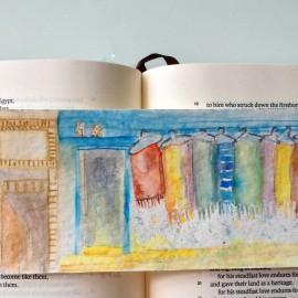 handpainted bookmark_harmonythoughts_elisachoi