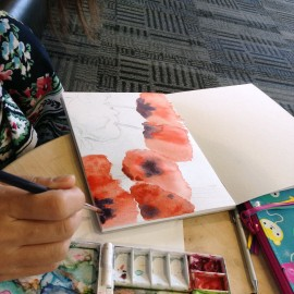 poppies watercolor painting_harmonythoughts