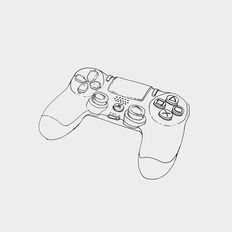 Line Drawing Xbox Controller : Sketch your life student gallery part of harmony