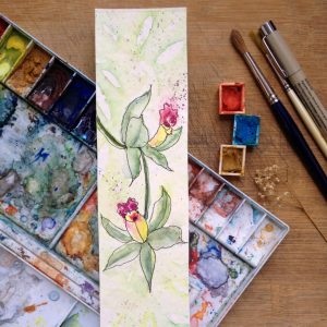 green orchid watercolor harmonythoughts