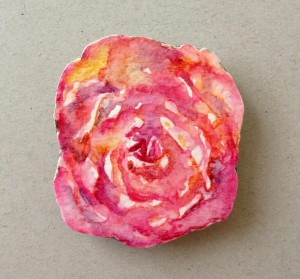 rose paper brooch1
