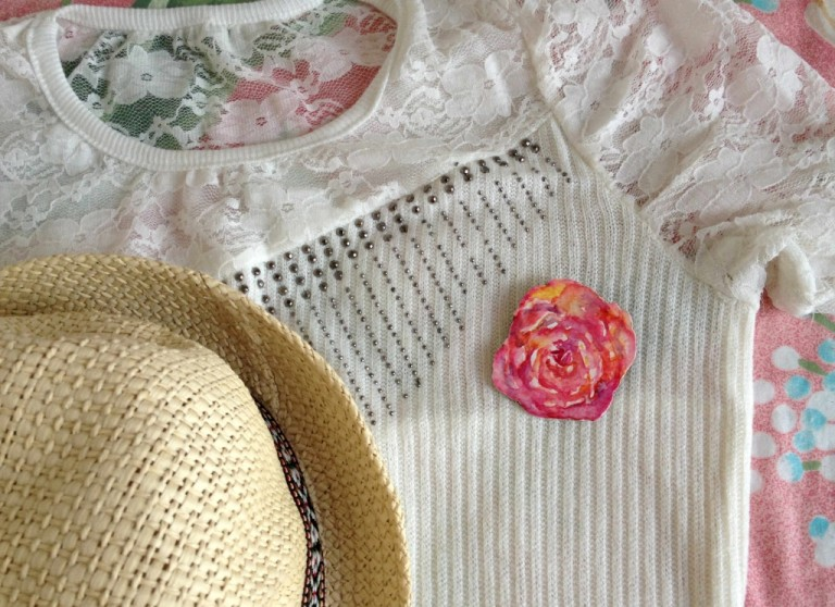 rose paper brooch7