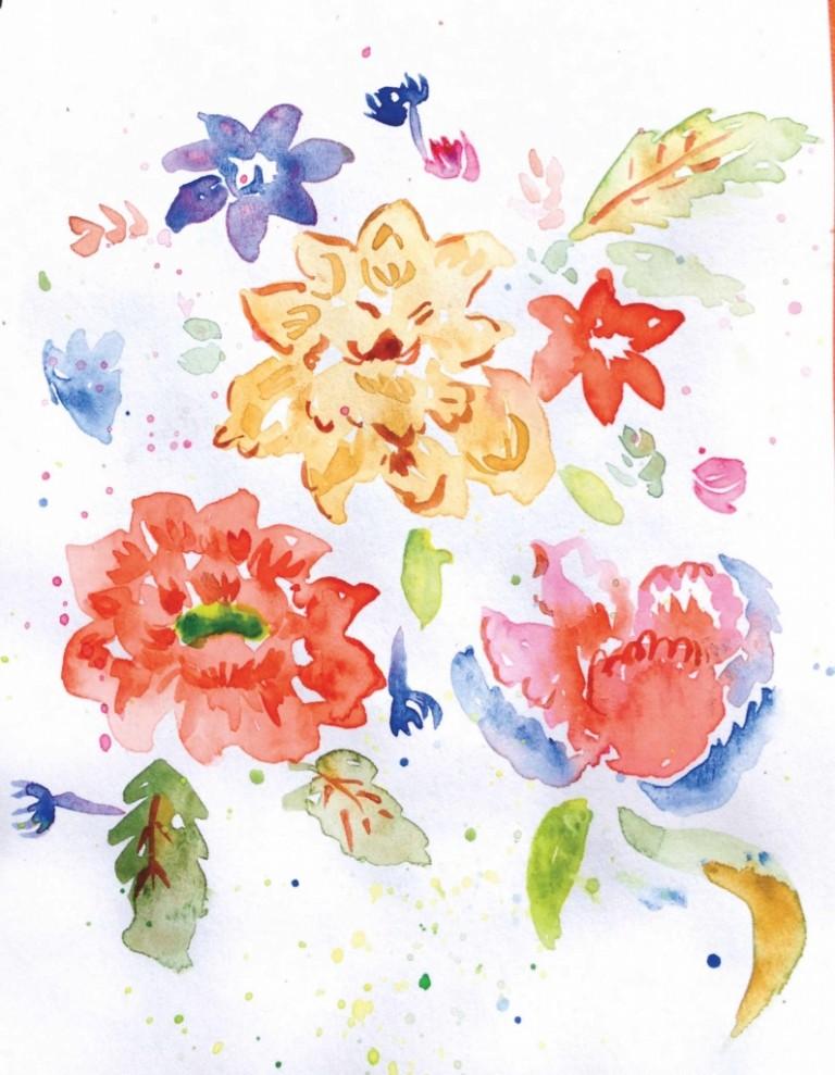 Pillow Flower Pattern
