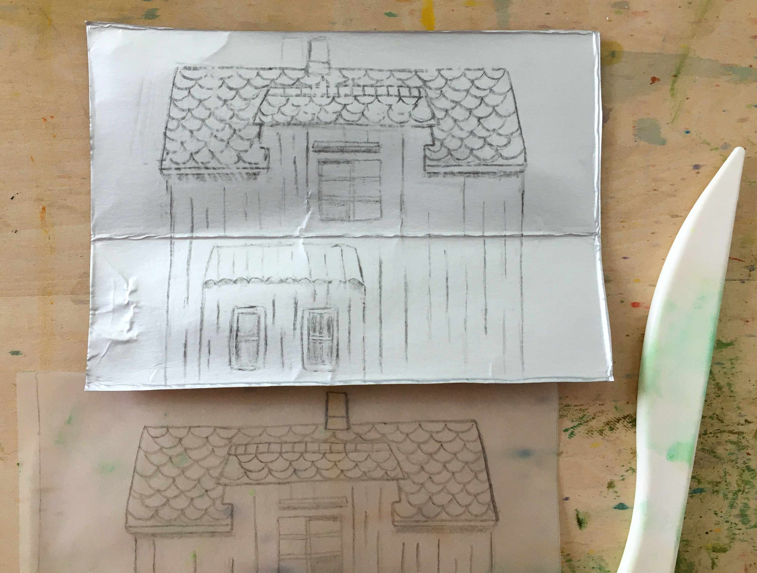 transfer drawing to tracing paper