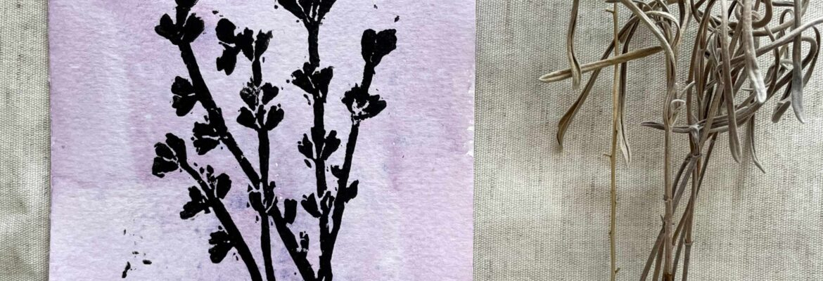 Making Lavender Prints and Cards